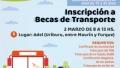 INSCRIPCIÓN A BECAS DE TRANSPORTE