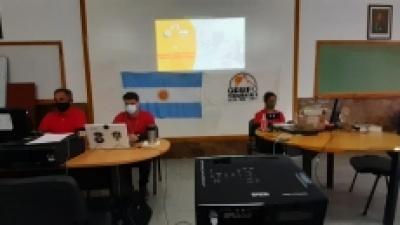 La brigada Cumbre USAR con la que trabaja Pocito, participa del SIMEX 2021 de Perú
