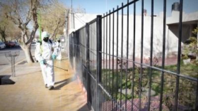 Más desinfección para los vecinos de Pocito
